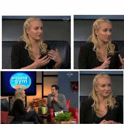 """28/11/2010: Nastia c'est faite interviewer par """"Around Gymnastics"""""""