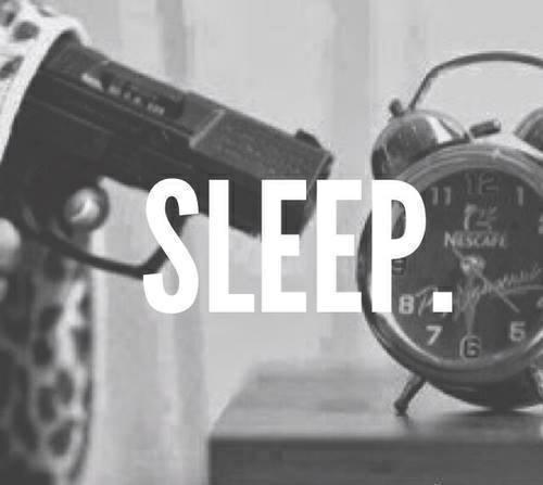Dormir, pour oublier de mauvaises choses,dormir pour se créer un monde plus beau que la réalité