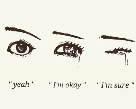 """""""Je peux voir ta tristesse même  quand tu souris, quand tu rigoles.Je peux voir dans tes yeux à l'intérieur de toi tu veux pleurer"""" -Eminem-"""