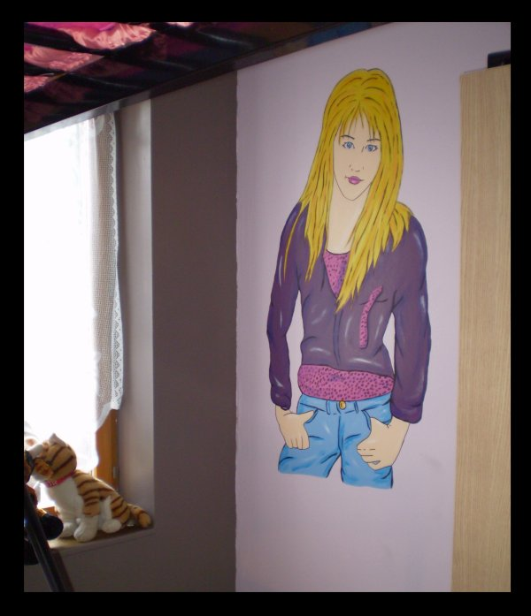 Fresque Hannah Montana by Feather-Art