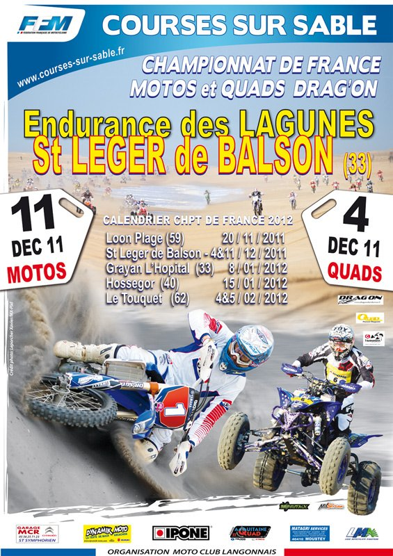 CHAMPIONNAT de FRANCE D'ENDURANCE TT de COURSE sur SABLE