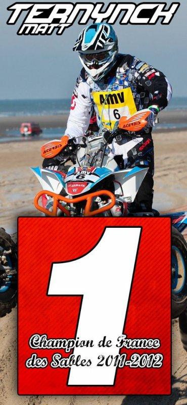Matthieu Ternynck CHAMPION de France des Sables 2011/2012