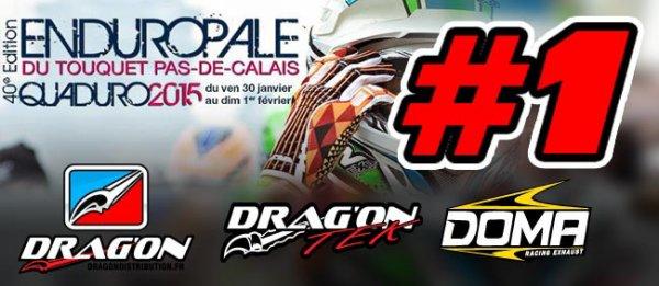Drag'on TEK et Doma Racing N°1 à l'Enduropale 2015