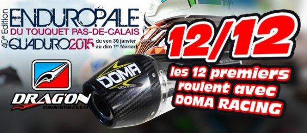 Quaduro 2015 : Doma Racing occupe les 12 premières places en quad !