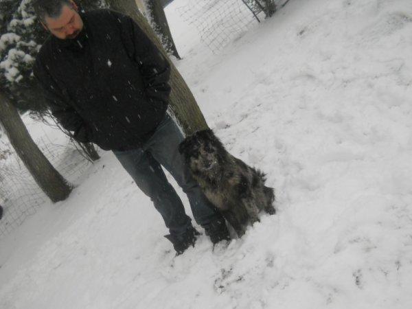 moi et mon chien bella
