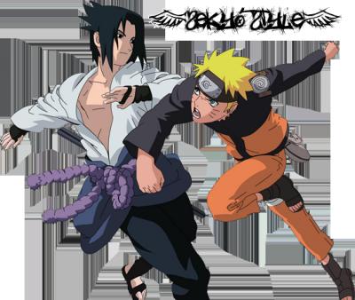 Sasuke et naruto combat