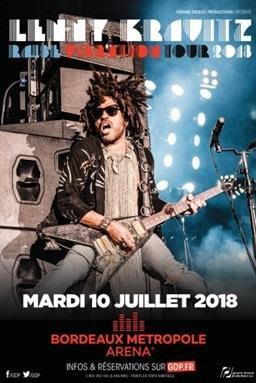 LENNY KRAVITZ - RAISE VIBRATION TOUR - FLOIRAC - BORDEAUX METROPOLE ARENA  _  Le MARDI 10 JUILLET 2018 à 20:00