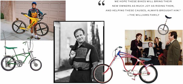Vente aux enchères: la collection de vélos de Robin Williams au profit de Christopher & Dana Reeve Foundation