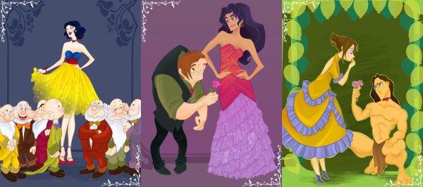 les princesse au bal de fin d'année