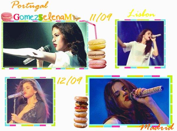 Rattrapage Londres(x2) / Portugal /Madrid/ Selena pleure LWR