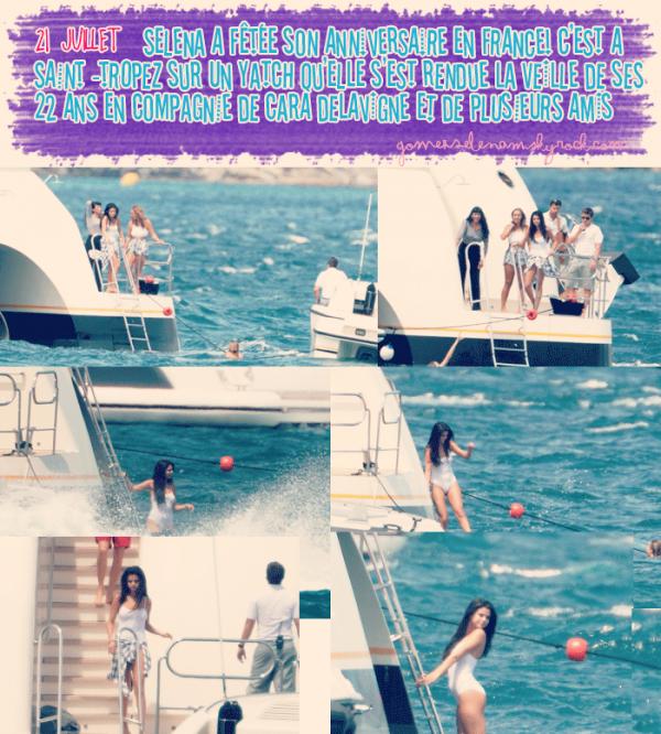 Selena a passée son 22e anniversaire en France !