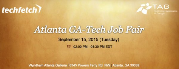 Tech Job Fair – Atlanta(GA) – Sep 15, 2015