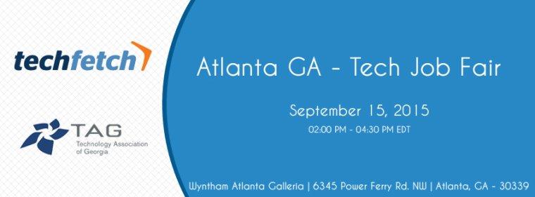 Atlanta Tech Job Fair Sep 15, 2015