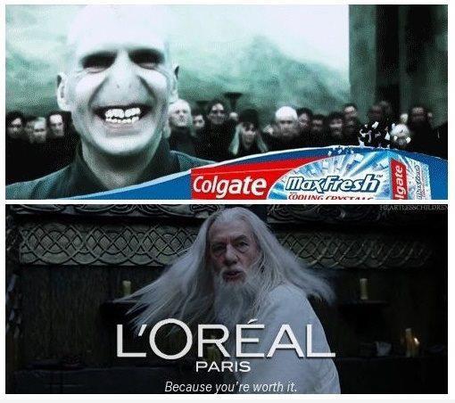Colgate Voldemort and l'Oréal Dumbledor