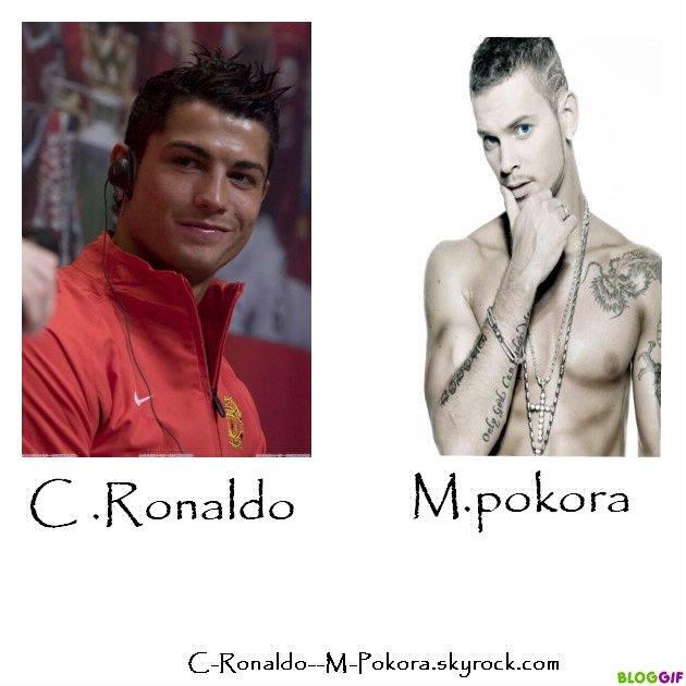Cristiano Ronaldo & M.pokora <3