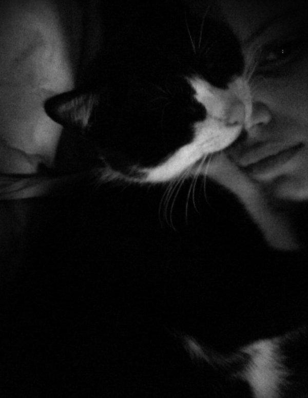 MnAmour de BebeShou' qui dort sur ma tête <
