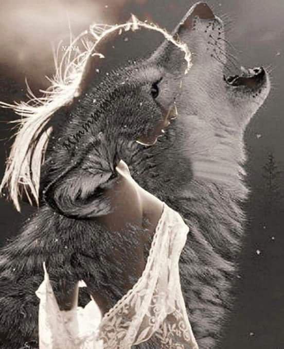 une femme ..un loup