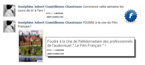 Foudre à la Une du Film Français !