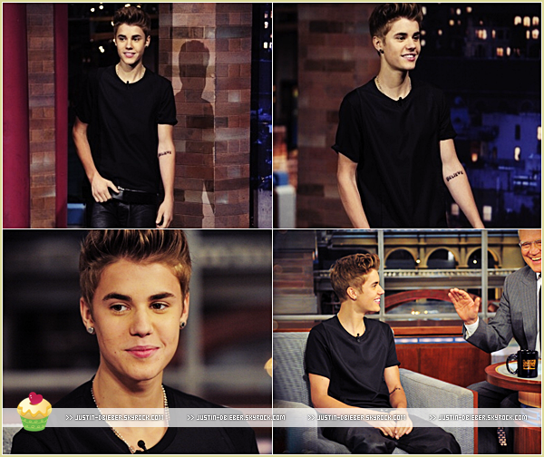 . Mercredi 20 Juin : Justin était à l'émission The Late Night ShowJ'aime beaucoup sa tenue même si elle est simple  C'est un Top ! :) .