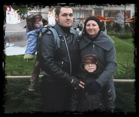 Moi , Sylvain et nos deux garçons