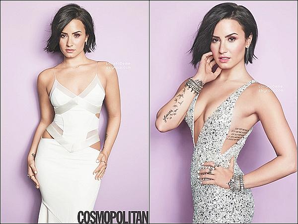 . COVER||Photoshoot de Demi pour Cosmopolitan de Septembre 2015 dont elle fait la couv. .