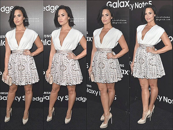. Events || Demi Lovato s'est rendue à la soirée Samsung Launch Party à West Hollywood le 17/08. .