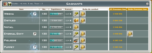 Pallier 130, et Quête Otomai Update :)