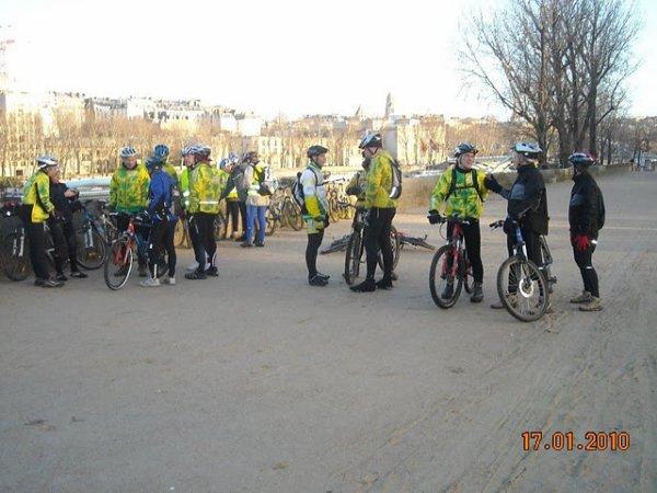Sortie VTT à Paris (janvier 2010)