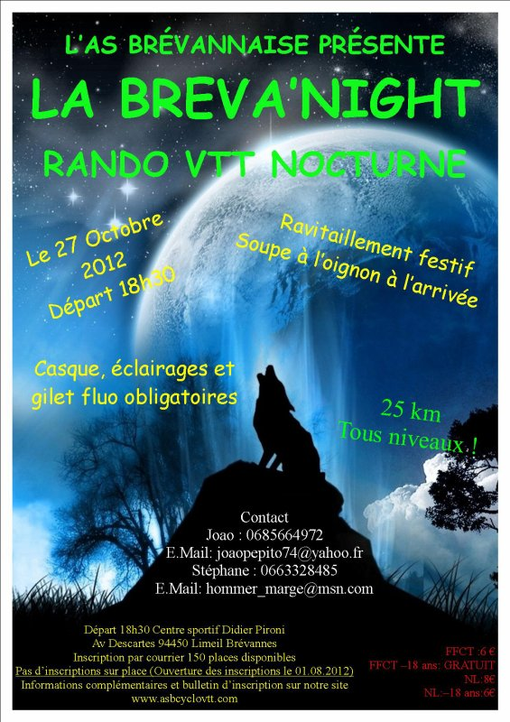 AFFICHE BRÉVA' NIGHT