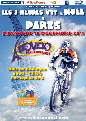 Les 3 Heures VTT de Noël au bois de Boulogne (décembre 2011)