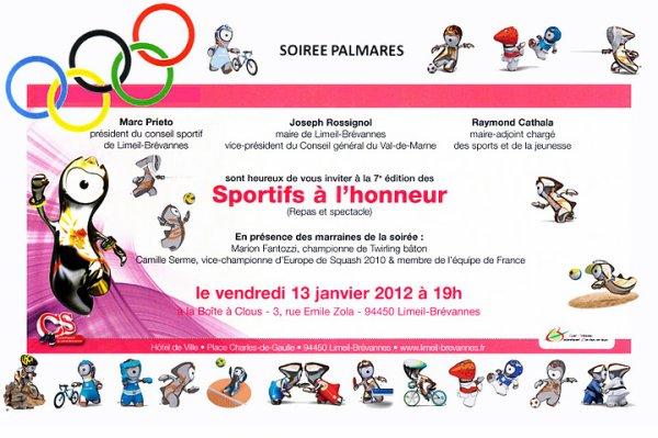 Sportifs brévannais à l'honneur ! (janvier 2012)