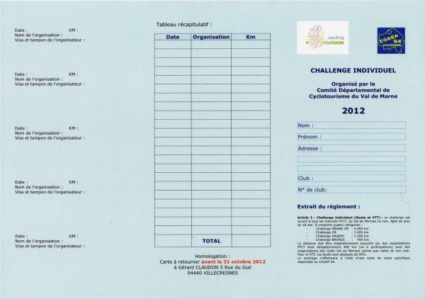Challenge individuel du CoDep (janvier 2012)