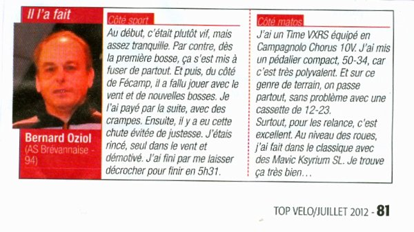 Cyclosportives: Beaume-Drobie et Viking 76 (mai-juin 2012)