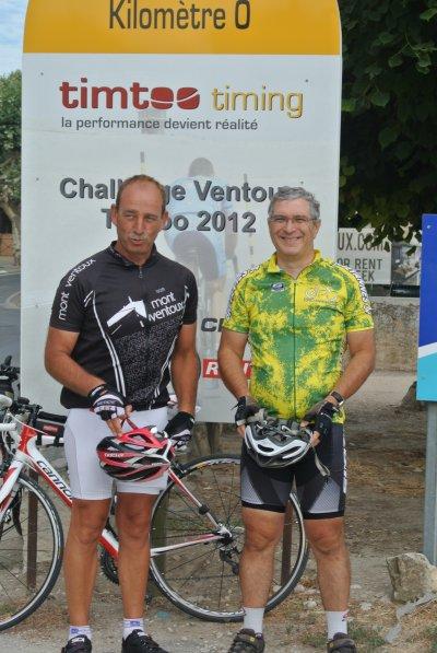 Claude et Pascal, cinglés du Ventoux (août 2012)