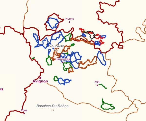Randonnées en Vaucluse (juillet-août 2012)