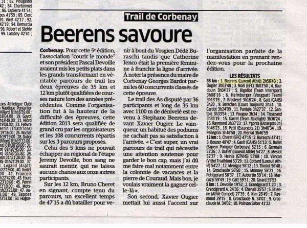 Trail de Corbenay (avril 2013) avec Stéphane B.