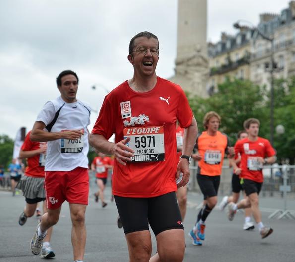 10 km de l'Équipe (23 juin 2013), avec François Fine