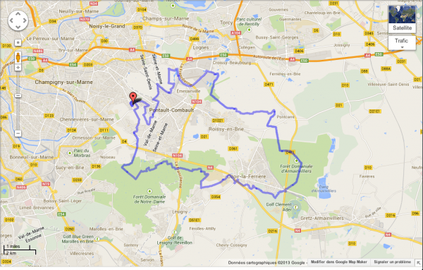 Rallye VTT du Plessis-Trévise (6 octobre 2013), par Claude