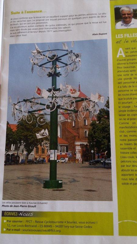 Les honneurs de Cyclotourisme, notre magazine national