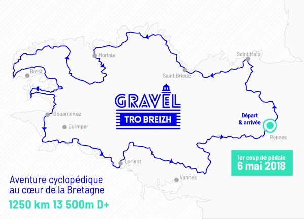 Le Gravel, le vélo randonneur polyvalent Première Edition du Gravel Tro Breizh sur un MR4