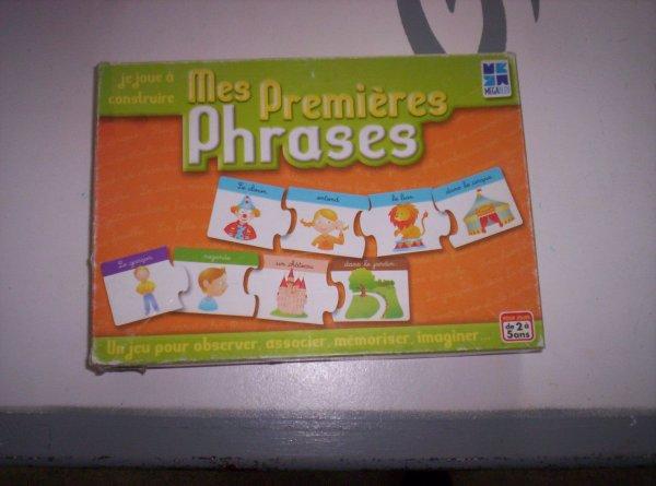 Apprendre a construire des phrases en s'amusant =}4¤ (2/5ans)