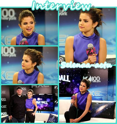 Selena Gomez au Jingle ball interview + show