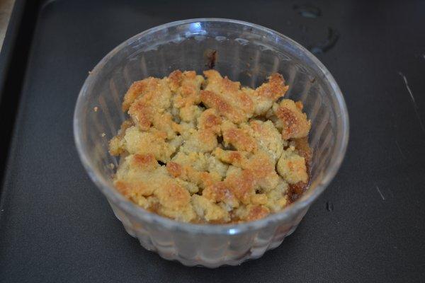 Crumble poire-chocolat par Speedy