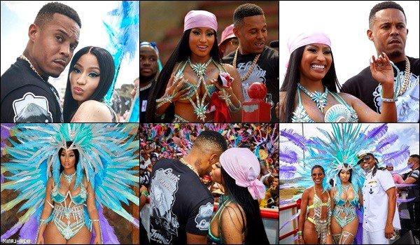 """- """"•.24/02/20.""""▬ Notre Magnifique Queen Nicki a performé  au Carnaval à «Trinité et Tabago» sa ville natale.  -"""