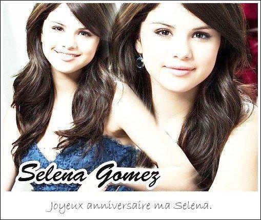 Selena Gomez fête ses 19 ans. ♥
