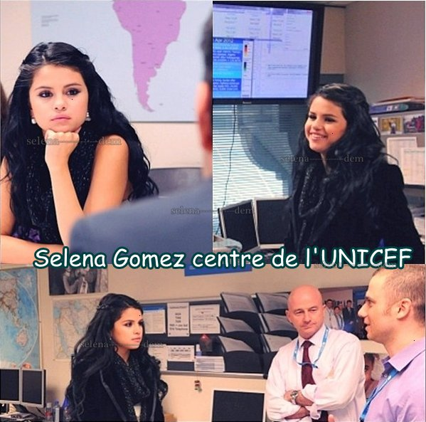 Selena gomez passage à new york au   centre de l'UNICEF le 11 avril