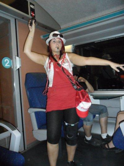 city parade le retour dans le train