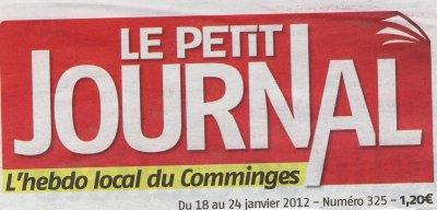 Le Petit Journal.L'hebdo Local du Comminges.Julien Almansa remporte l'épreuve.Championnat Midi-Pyrénées de Cyclo-Cross FSGT