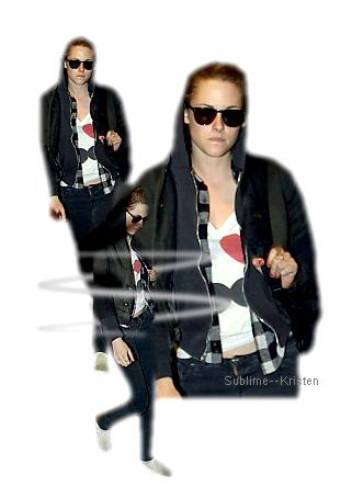 Kristen à l'aéroport d'Argentine Lax