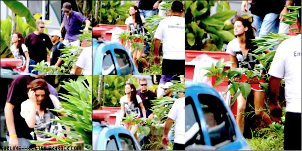 _8/11/10______Kristen et Robert vont sur l'île Paraty, sur le tournage de Breaking Dawn____